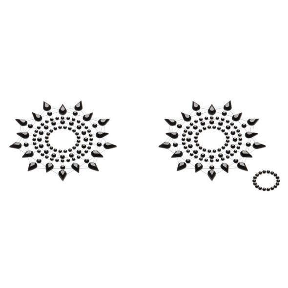 Пэстис из кристаллов Petits Joujoux Gloria set of 2 - Black, украшение на грудь