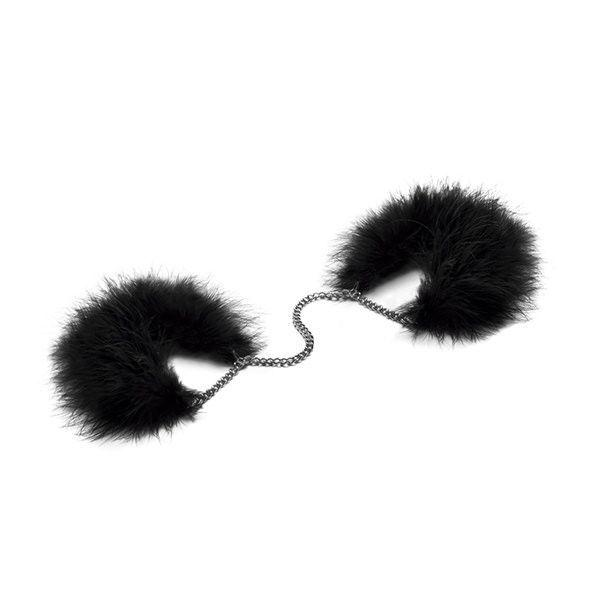 Пушистые наручники Bijoux Indiscrets Za za zu - feahter handcuffs, перьевые, подарочная упаковка