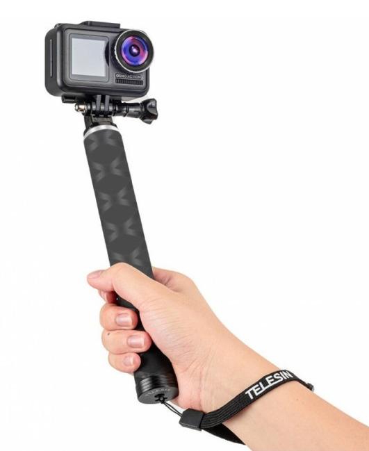 Карбоновый монопод Telesin со штативом для экшен-камер