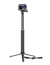 Карбоновый монопод Telesin со штативом для экшен-камер, фото 2