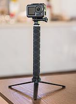 Карбоновый монопод Telesin со штативом для экшен-камер, фото 3