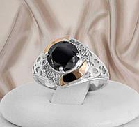 """Серебряное кольцо """"Олеся черный"""", фото 1"""
