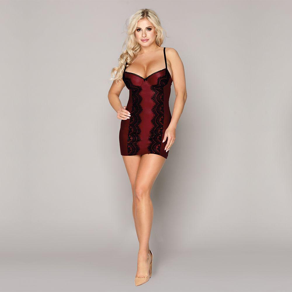 Эротическое бордовое платье S/M