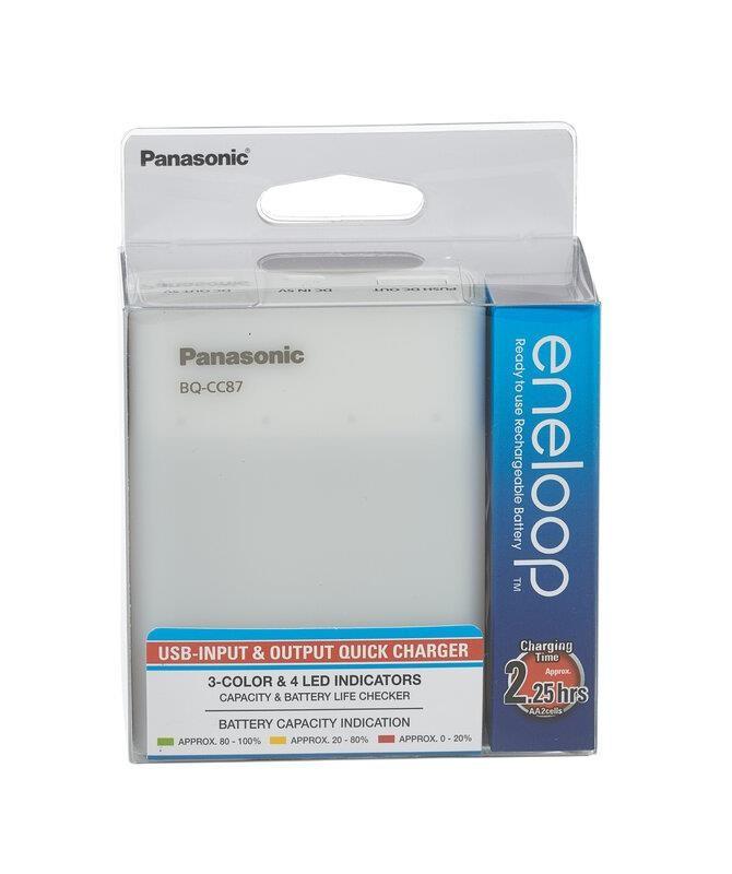 Зарядное устройство Panasonic BQ-CC87USB+4xBK-3MCCE (K-KJ87MCC40USB)