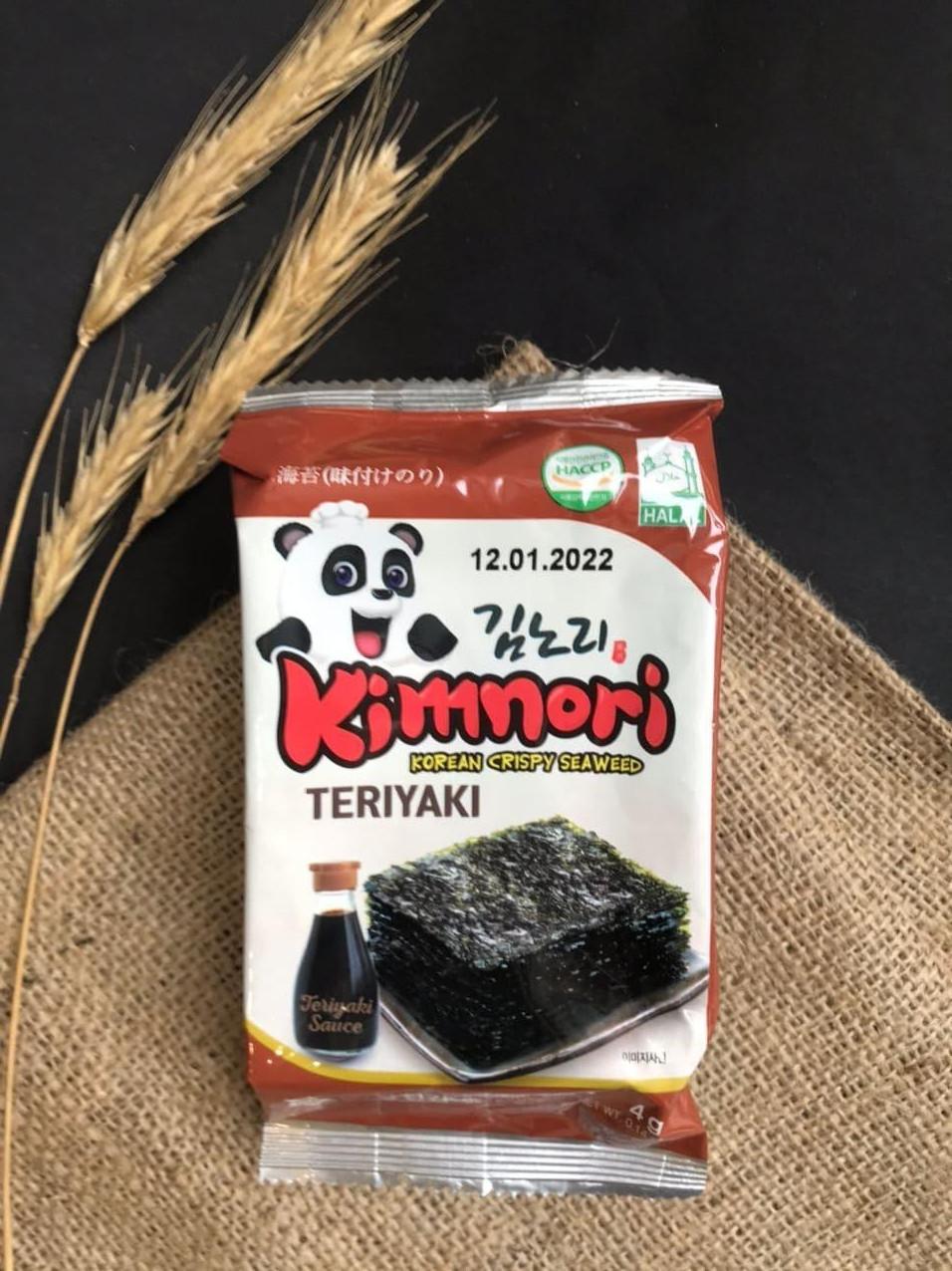 Чіпси норі снек KimNori Teriyaki 4,5 г (Корея)