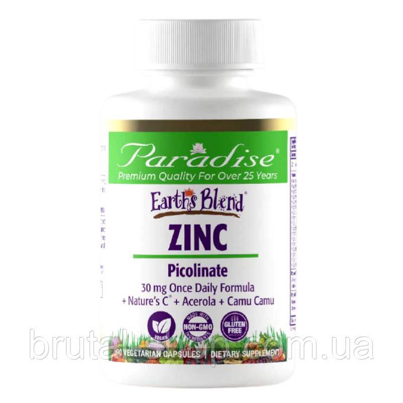 Paradise Herbs  Earths Blend   ZINC Picolinate 30mg   (90caps)