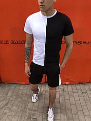 Футболка Segmentation Pobedov (бело-черная)