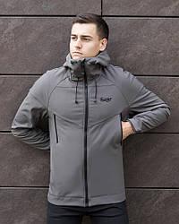 Мужская куртка Soft Shell Pobedov (серая)