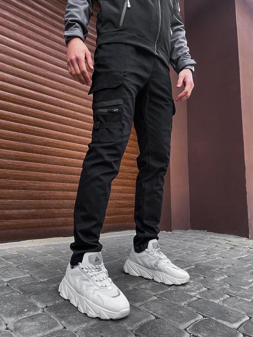 Мужские штаны Mezhigorye Pobedov (черные)