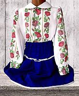 """Сорочка для дівчинки """"Краля"""" (Пошита заготовка)"""