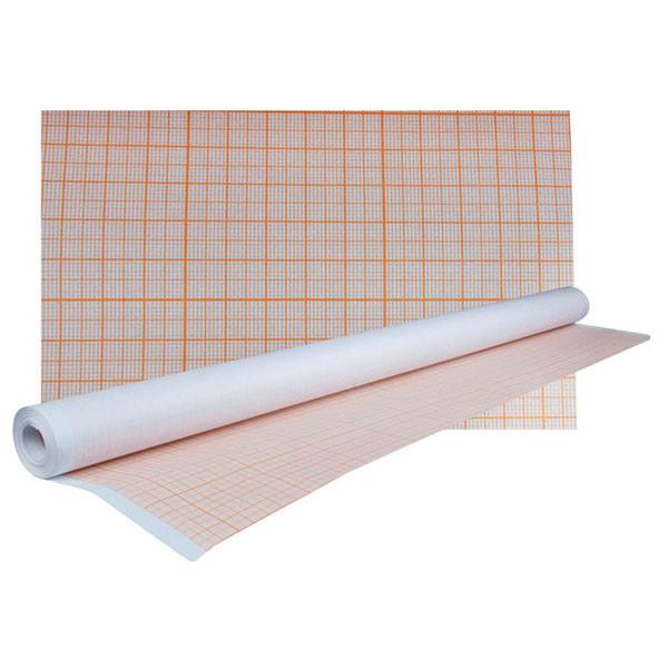 Бумага миллиметровая в рулоне, 640*10 метров, желто-оранжевая
