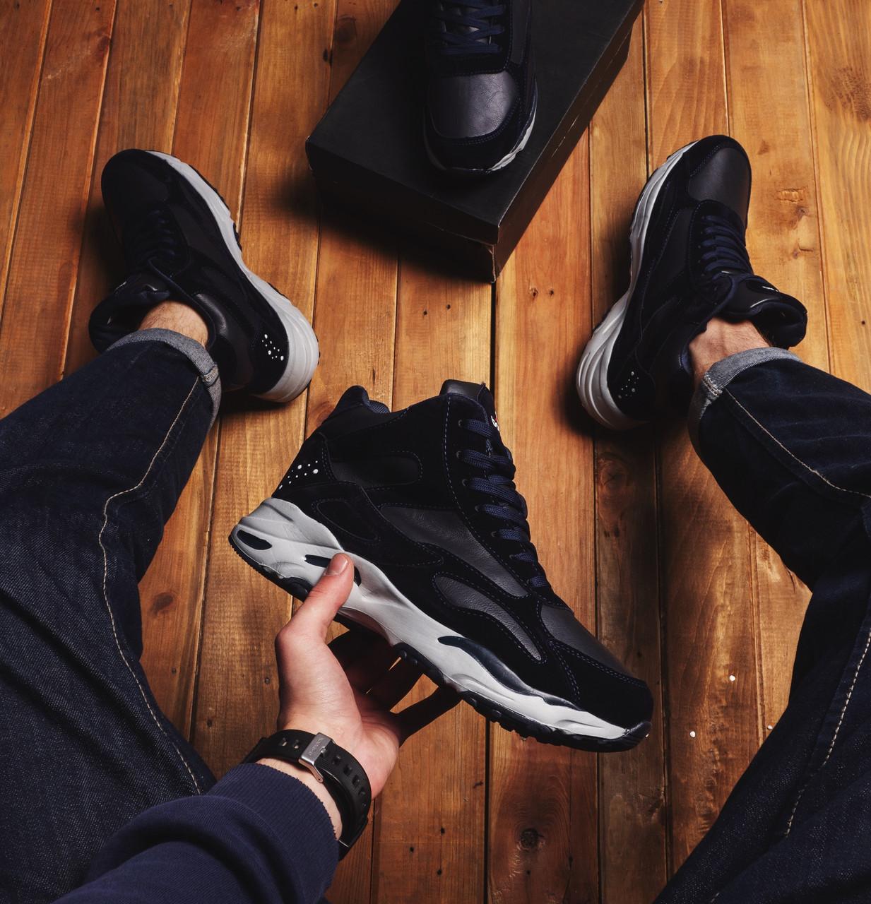 Мужские ботинки Байота космос Pobedov (темно-синие)
