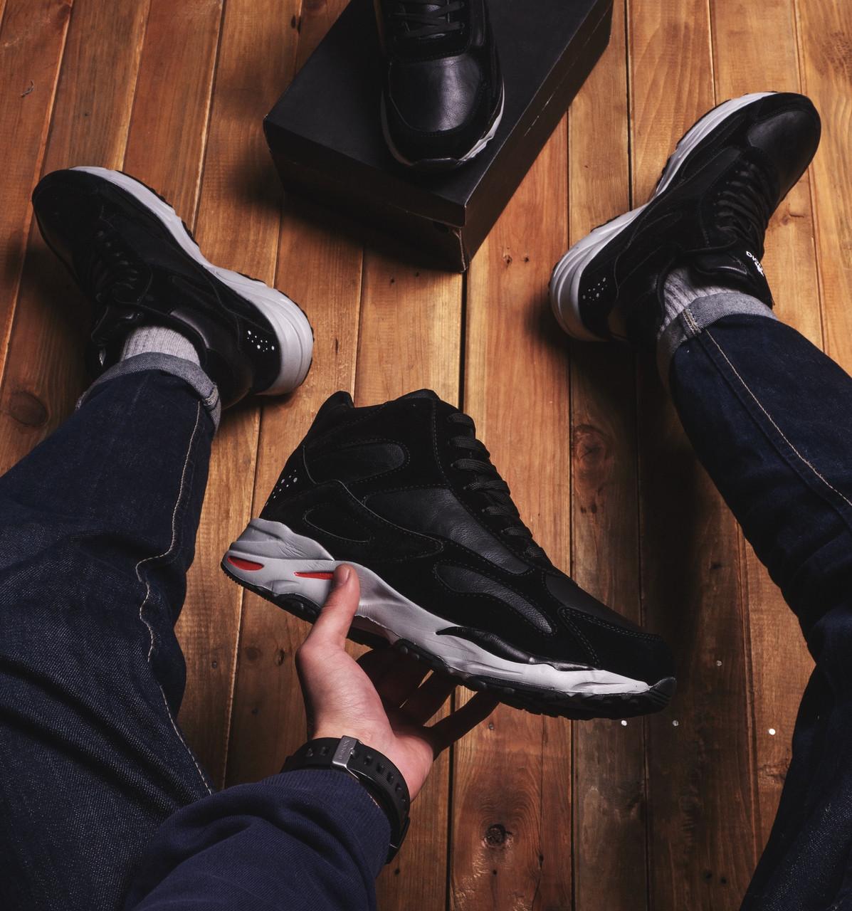 Мужские ботинки Байота космос Pobedov (черные)