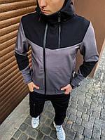 Мужская куртка Pyatnitsa Pobedov (серая с черной вставкой)