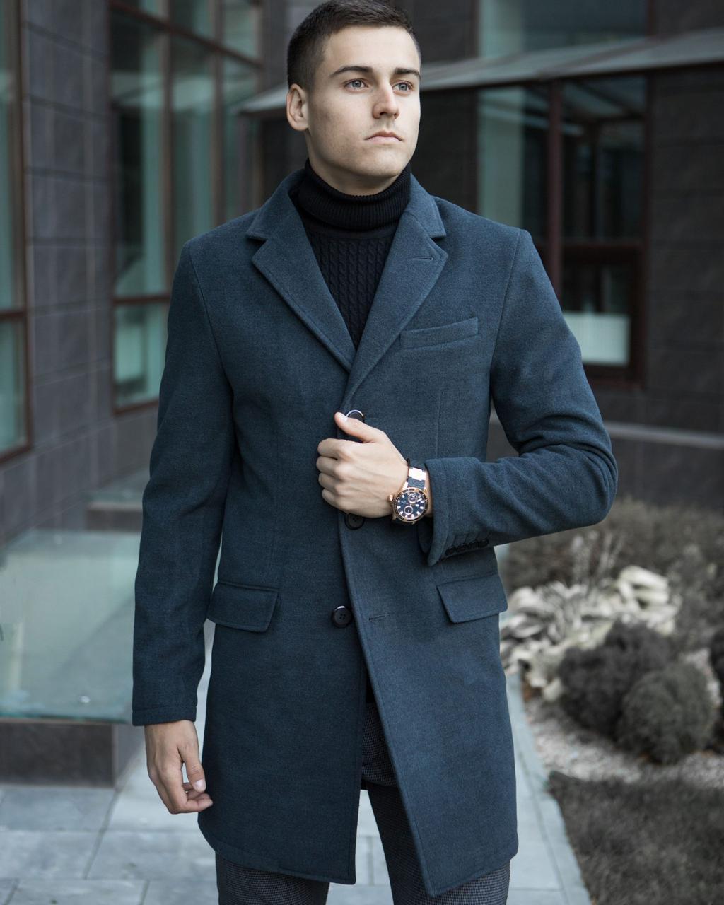 Пальто зимнее мужское BATYA Pobedov (антрацит)