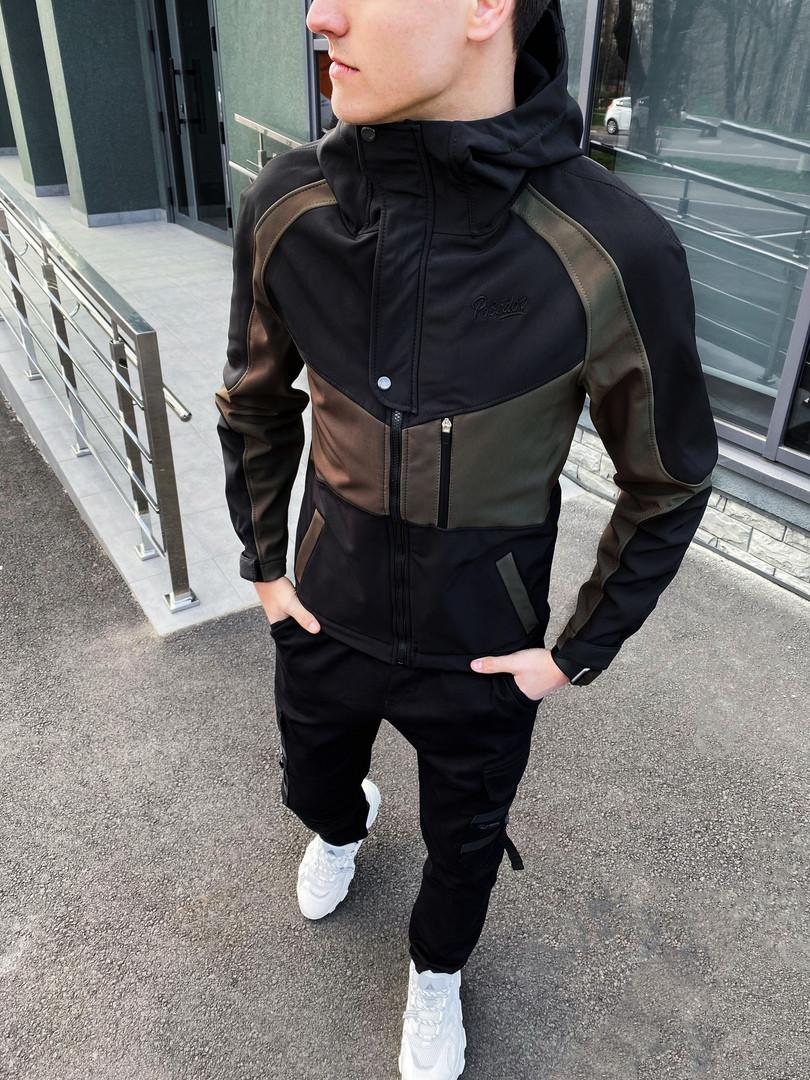 Мужская куртка Klon Pobedov (вставка хаки)
