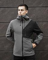 Мужская куртка Boris Pobedov (серая с черной вставкой)
