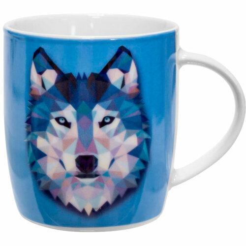 Кружка Keramia Волк 21-279-027 360 мл синяя