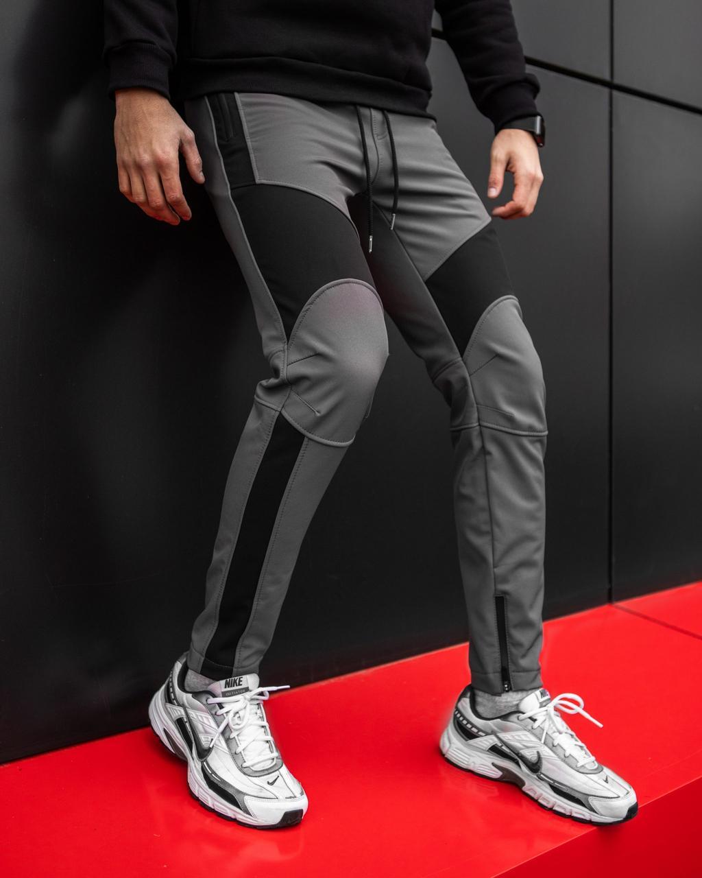 Зимние мужские штаны 'Vice City' Pobedov (серые с черным)