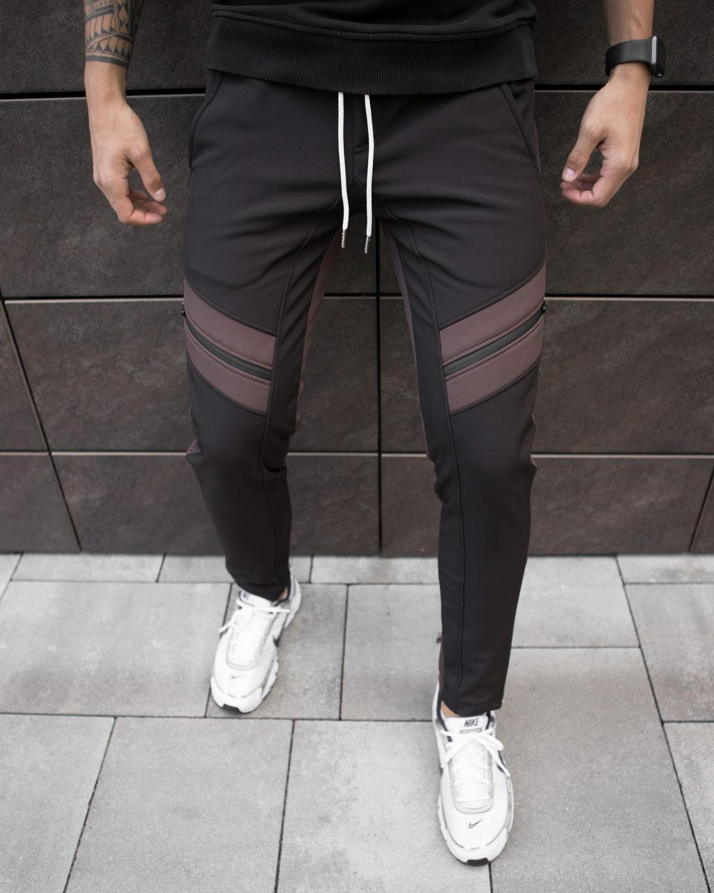 Чоловічі зимові штани Soft Shell 'San Andreas' Pobedov (чорно-коричневі)