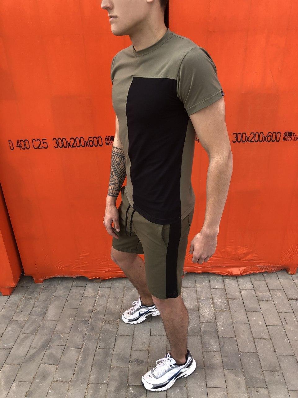 Футболка Lobster Pobedov (хаки с черным)