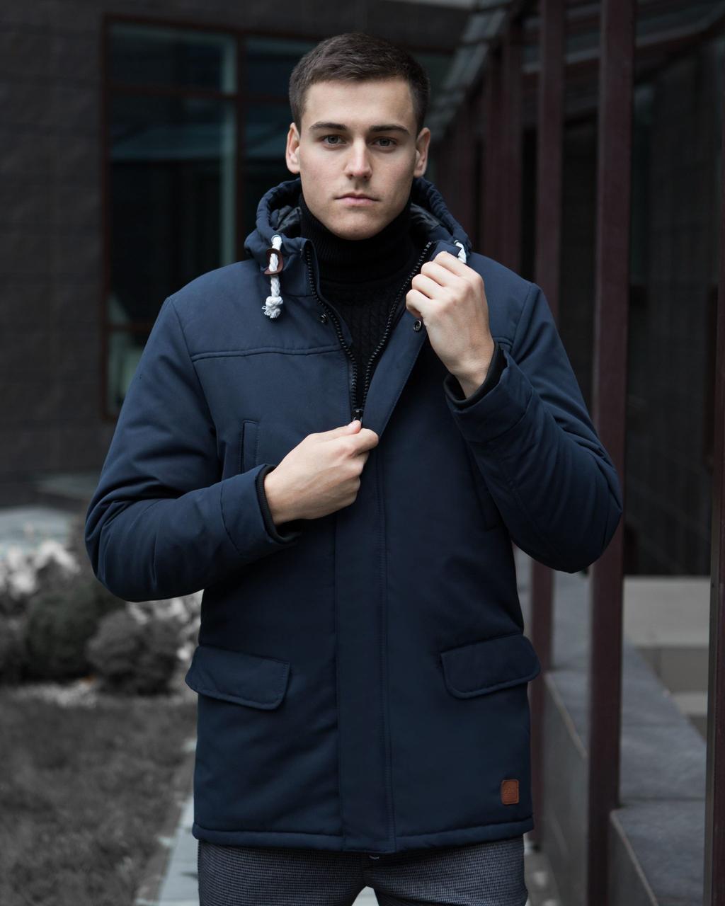 Куртка Парка зимняя мужская ELIT Pobedov (темно-синяя)
