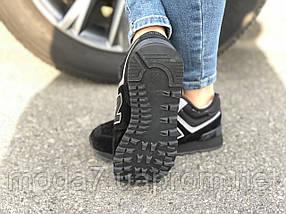 Кроссовки зимние женские, подросток замш черные New Balance реплика, фото 3