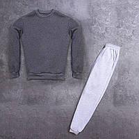 Мужской зимний спортивный костюм 99 Pobedov (антрацит с серым)