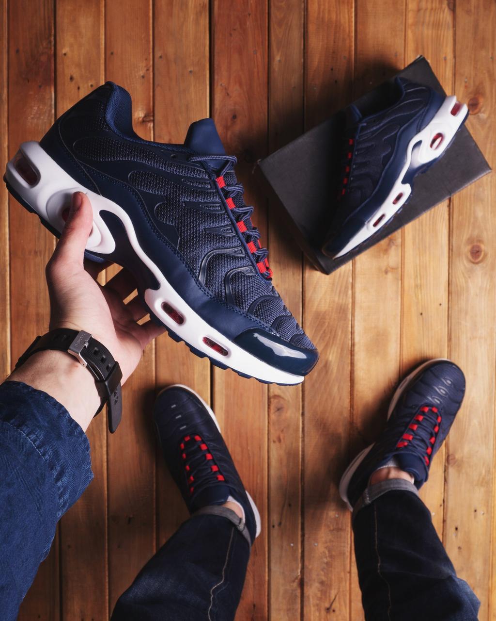 Мужские кроссовки Ривал ТН Pobedov (синие)