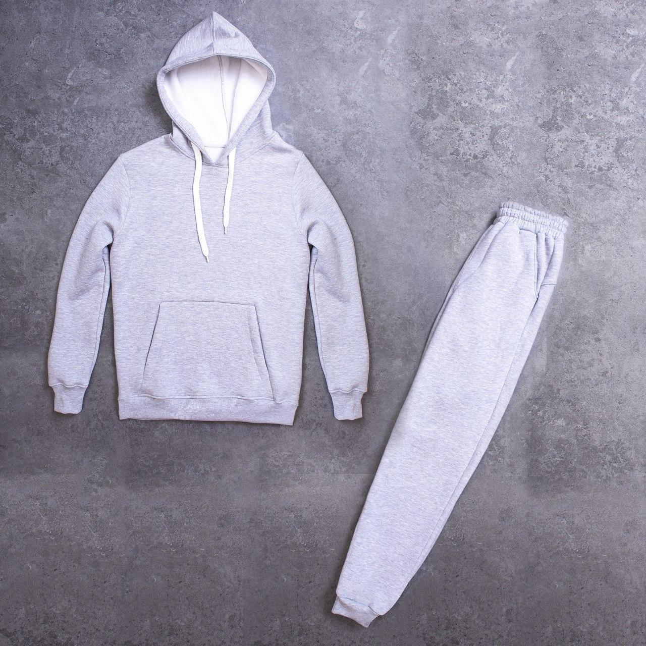 Мужской зимний спортивный костюм 98 Pobedov (серый)