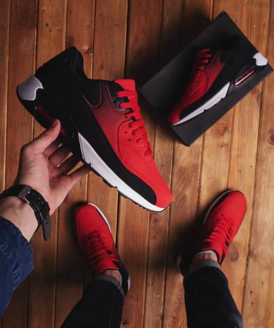 Чоловічі кросівки Ривал 90 Pobedov (червоні), фото 2