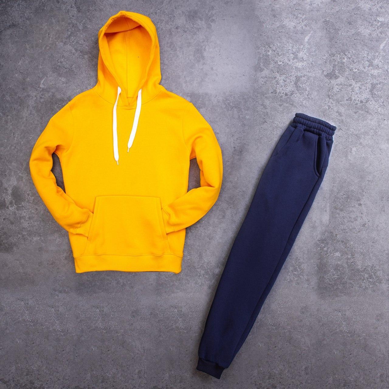 Мужской зимний спортивный костюм 98 Pobedov (желтый с синим)
