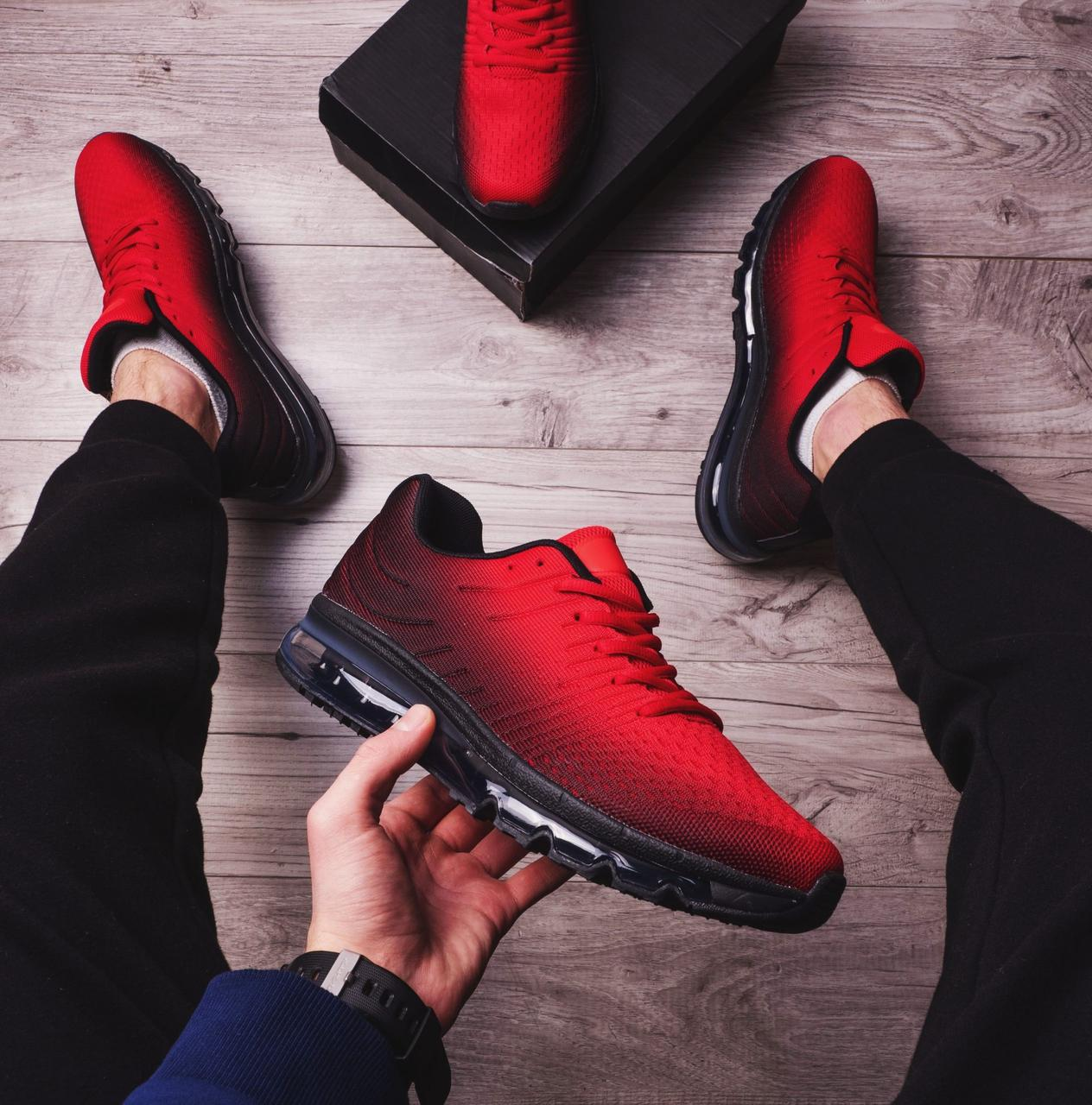 Мужские кроссовки Ривал 360 Pobedov (красно-черные)