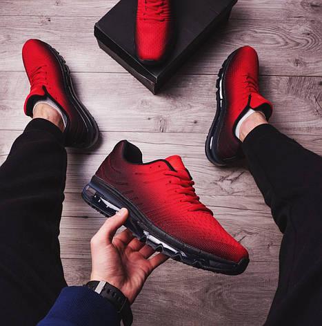 Мужские кроссовки Ривал 360 Pobedov (красно-черные), фото 2