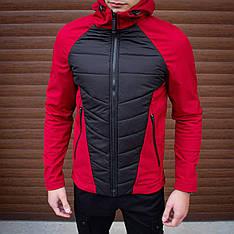 Мужская куртка Rafael Pobedov (бордово-черная)