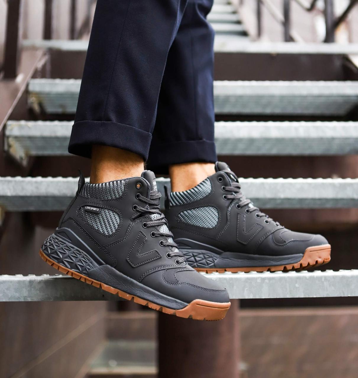 Мужские ботинки Вегас Pobedov (серые)
