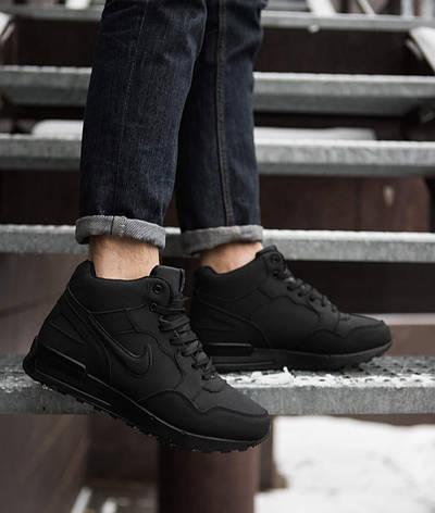 Мужские ботинки Мид Хай Pobedov (черные), фото 2