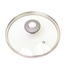 Крышка стеклянная с металлическим ободком 16см Kamille 0820GR