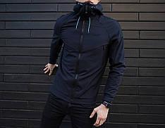 Мужская куртка Soft Shell Pobedov (темно-синяя)