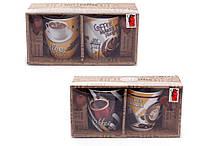 Набор кружек 350 мл Coffee с коричневыми ложками Bona Di 334-409