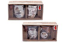 Набор кружек 350 мл Retro Coffee с коричневыми ложками Bona Di 334-410