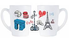 Набор кружек Luminarc New Morning Love Paris P9812 320 мл 2 предмета