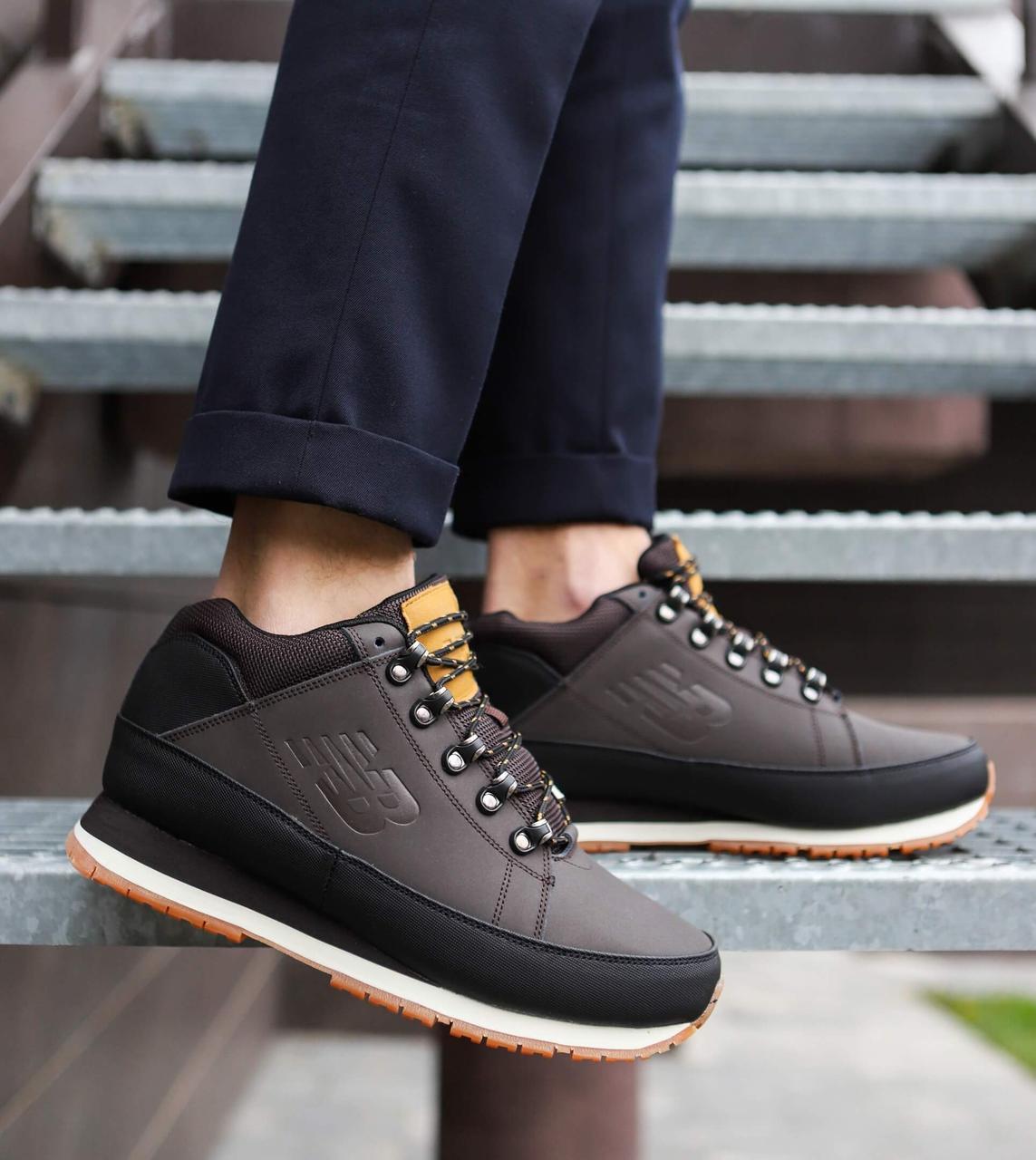 Мужские ботинки 754 высокие Pobedov (темно-коричневые)