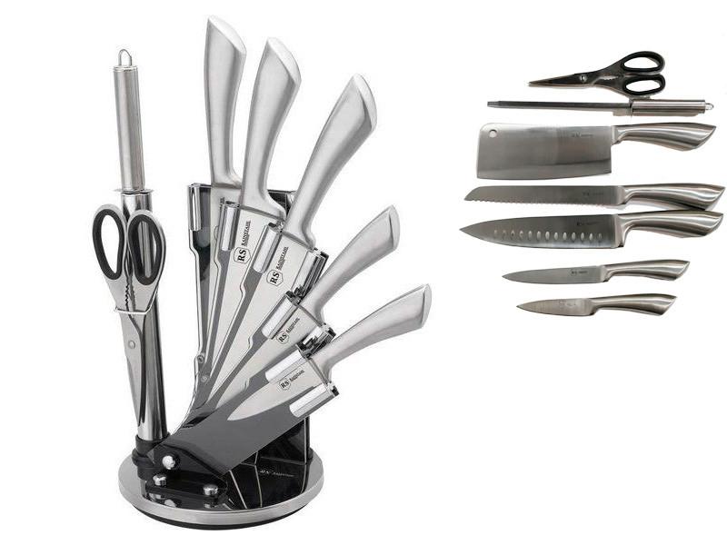 Набор стальных ножей в подставке RAINSTAHL 8пр