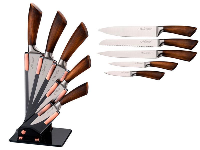 Набір ножів в акриловій колоді Maestro 6шт