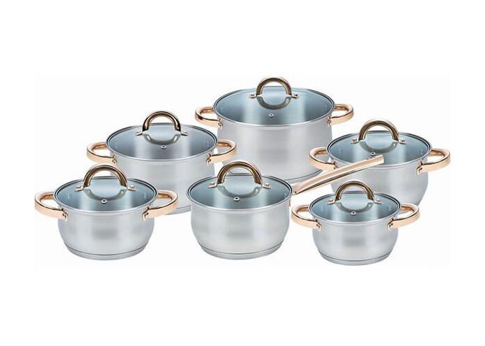 Набір посуду Maestro золотисті ручки 12пр
