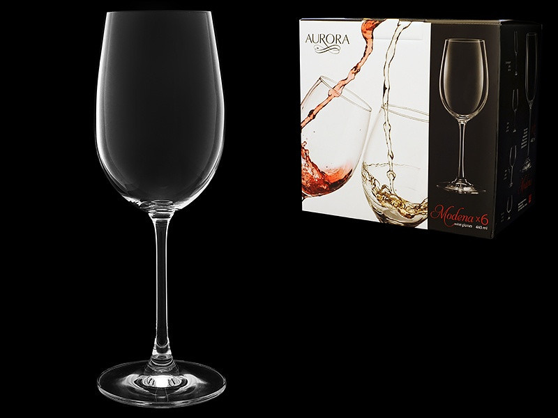 Набор бокалов для вина 440 мл 6 шт Modena Aurora 3276/0/440