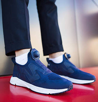 Чоловічі кросівки Ветементс Pobedov (сині), фото 2