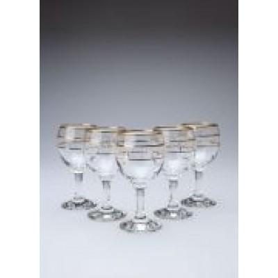 Набір келихів для вина 6 шт 170 мл Fancy золота окантовка 22291