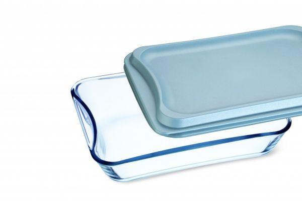 Скляна форма для запікання з пластиковою кришкою Simax 3.5 л